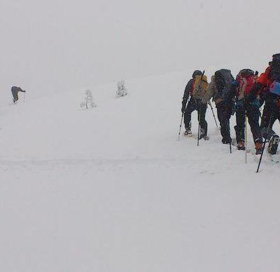 Montañismo invernal en Segovia
