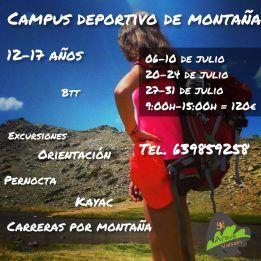 Campamento deportivo de montaña