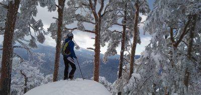 Esquí de travesía en la Sierra de Guadarrama