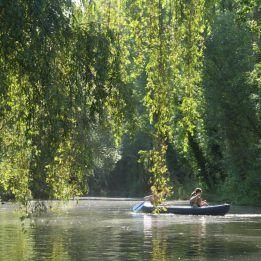 En piragua por el río Eresma, Segovia