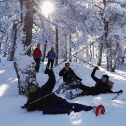 Raquetas de nieve en la Sierra de Guadarrama