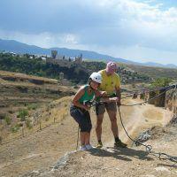 Rápel en las piedras de la Veracruz, Segovia